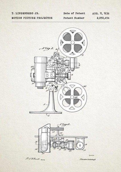 Projektor filmowy PLAKAT