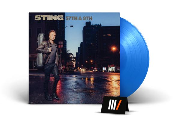 STING 57th & 9th (BLUE Vinyl) LTD LP